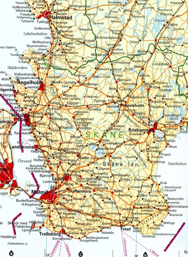 karta över östra skåne Ängelholm karta över östra skåne